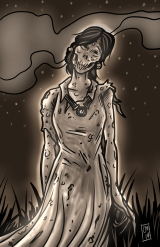 Weeping Woman concept GLOWY
